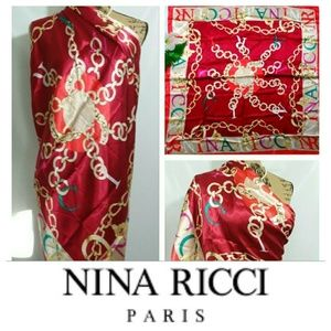 AUTHENTIC NINA RICCI PARIS OVERSIZED SILK SCARF